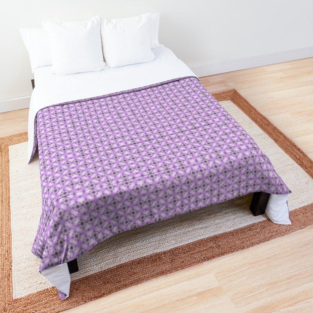 'Purple Fantasy' Comforter by Bettina Smith #purpledormrooms