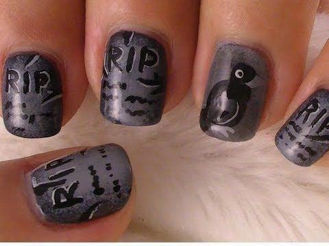 halloween tombstone nail art nailart nails bestnails