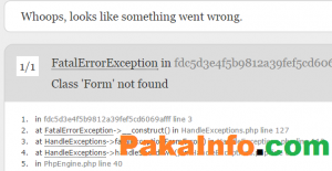 Class Html Form Not Found In Laravel 5 Error Solutions Solutions Class Not Found