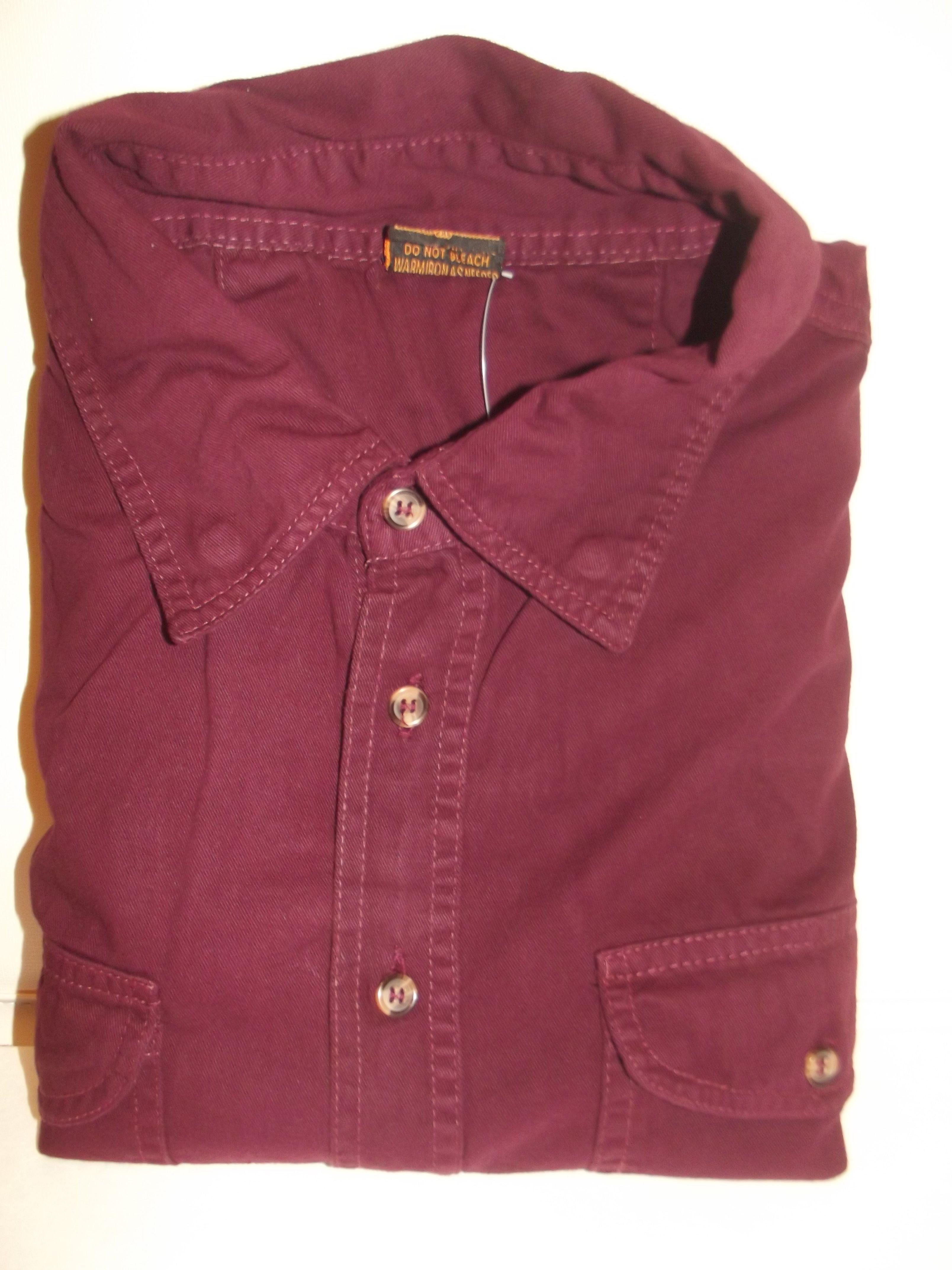 Flannel jacket with wool lining  Mens Motorcycle Biker Shirt Burgundy Cut Off Sleeveless Cotton Denim