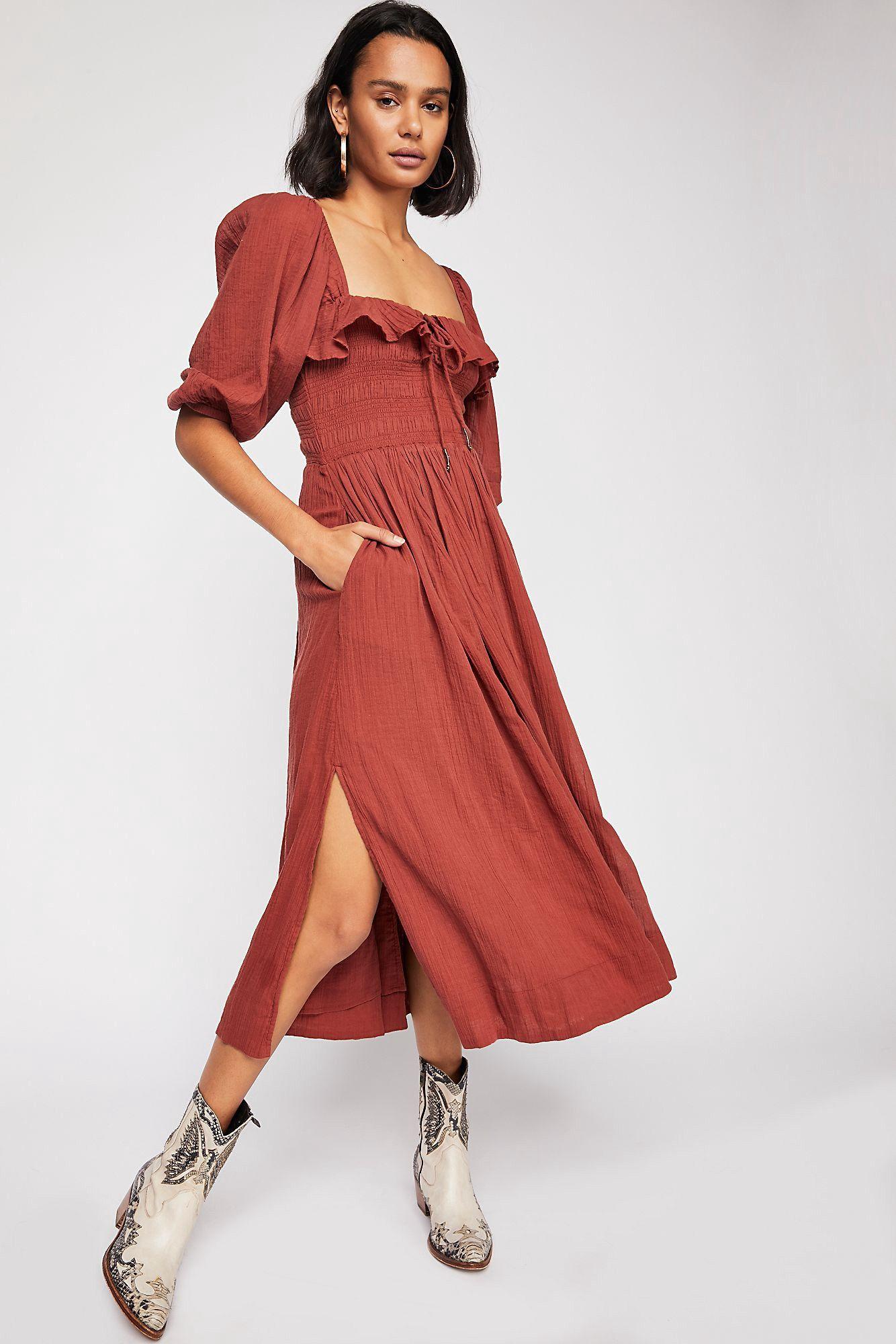 27abbb15fb4c Free People Oasis Midi Dress - L | Products | Dresses, Fashion, Fall ...