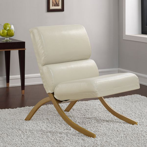 rialto black bonded leather chair u shaped arrangement retro glitz goldtone cream overstock shopping great deals on living room chairs