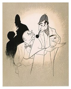 Details about Al Hirschfelds SHERLOCK HOLMES, THE GAMES AFOOT Hand Signed Ltd Ed Lithograph
