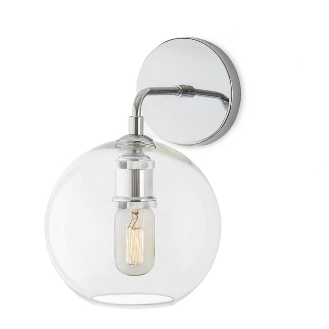 Alton wall sconce with clear globe chrome wall sconces globe and alton wall sconce with clear globe chrome audiocablefo