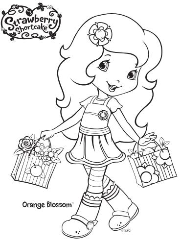 Strawberry Shortcake Orange Blossom Coloring Page In 2020 Strawberry Shortcake Coloring Pages Coloring Pages Christmas Coloring Pages