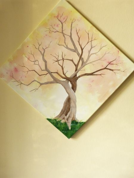 Fingerprint Leinwand,Hochzeitsbaum,Geburtstagsbaum von Midnight-jam auf DaWanda.com