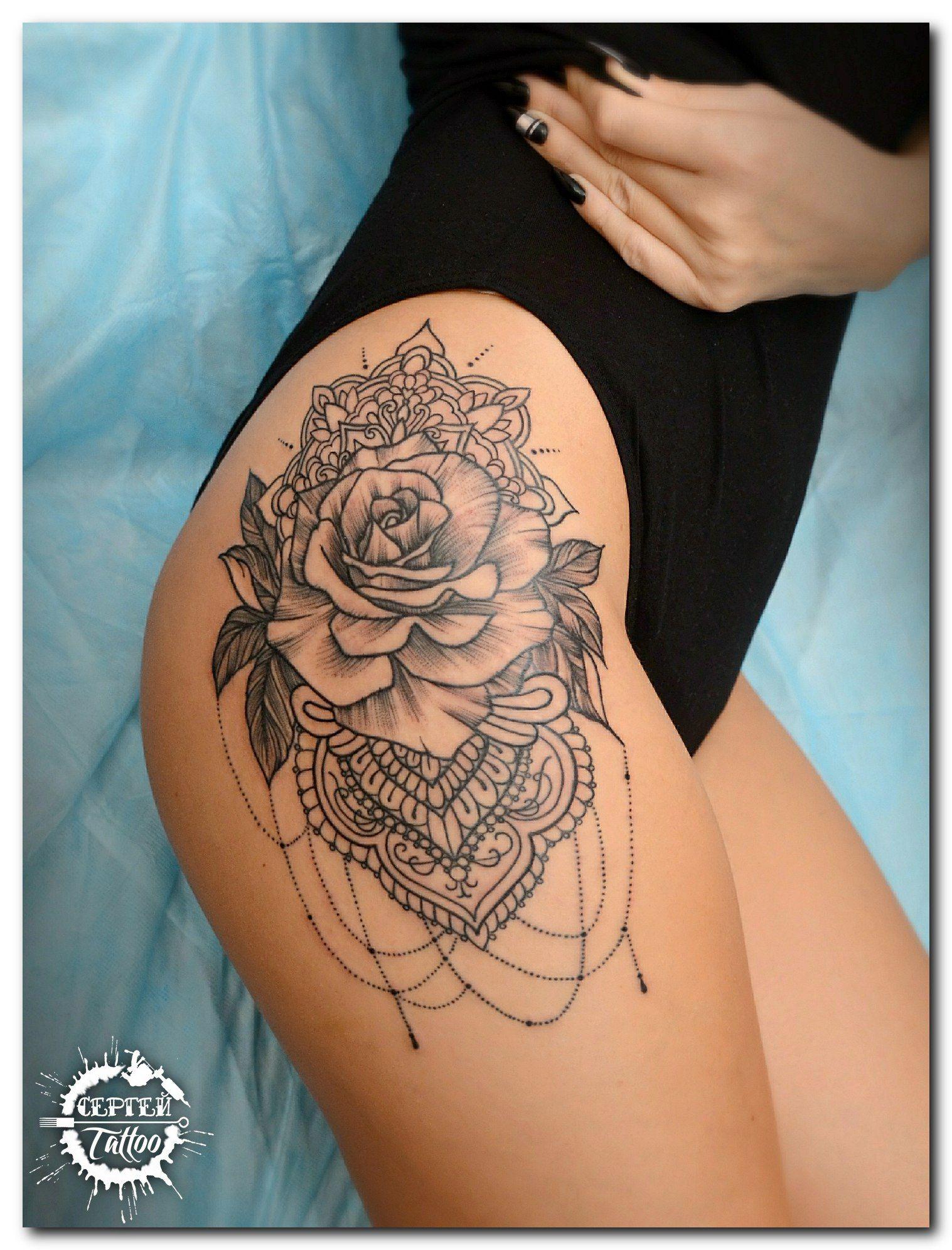 Tattoo Sergey Batalichev - tattoo's photo  In the style  Graphics, Female, Flowers, Ornamen (341492)