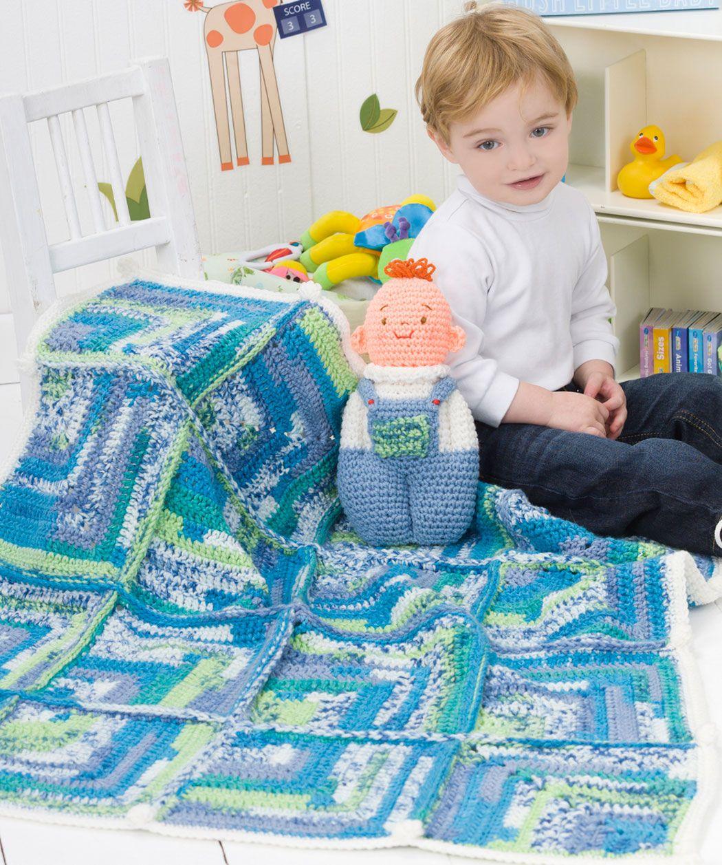 Baby Doll Toy & Blanket Crochet Pattern | Red Heart ...