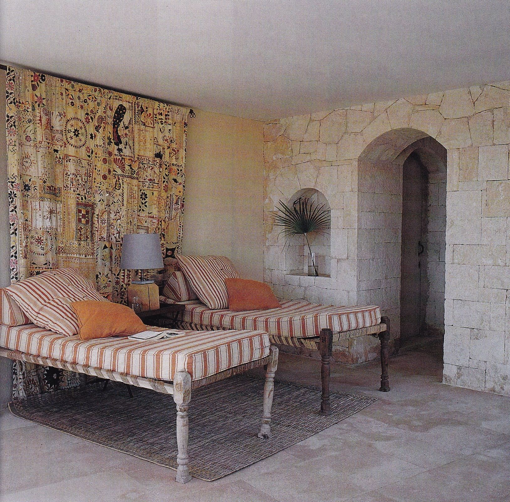 Peter Simon's Majorcan villa designed by Tino Zervudachi. Elle Decor