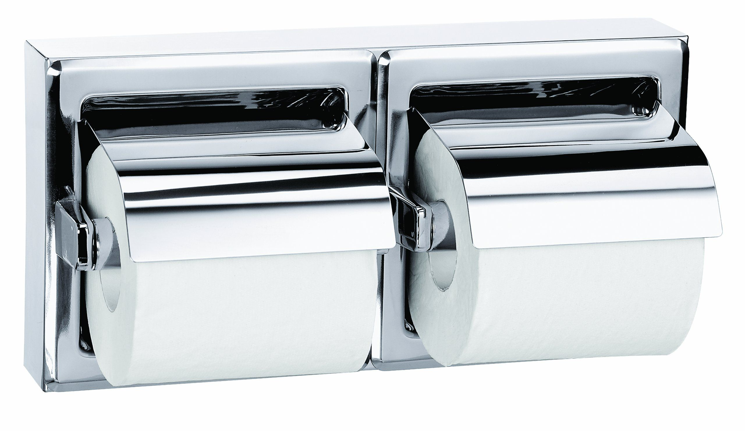 Bradley 5126 000000 Stainless Steel Surface Mounted Hinged Hood Dual Roll Toilet Tissue Dispenser 12 5 8 With Images Toilet Paper Holder Toilet Paper Dispenser Dispenser