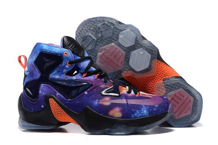 Nike LeBron 13 25K Custom Mars Stars BlackPurple Multi