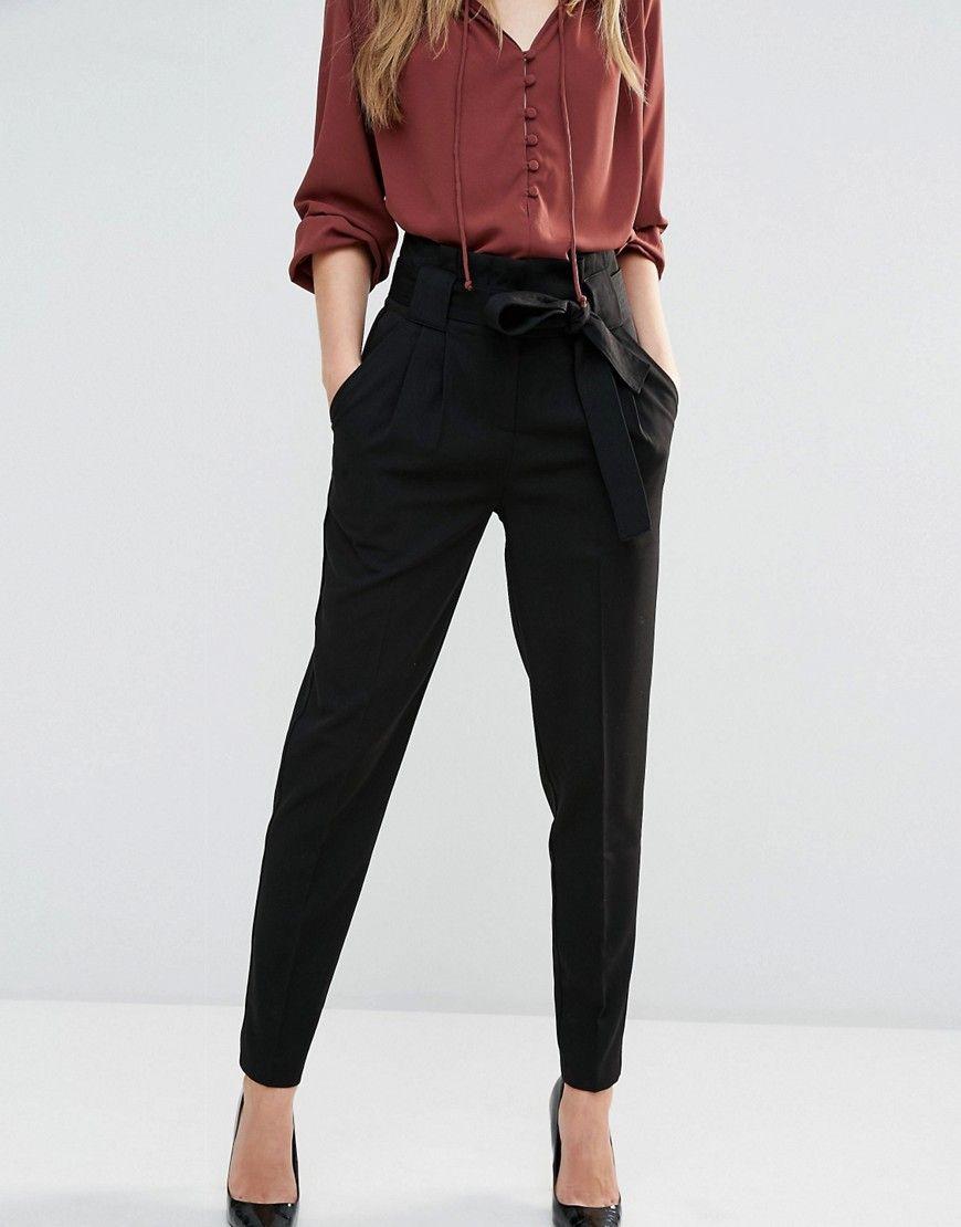 Y A S Tudor Paper Bag Trousers At Asos Com Summer Work Outfits Work Outfits Women Work Outfit