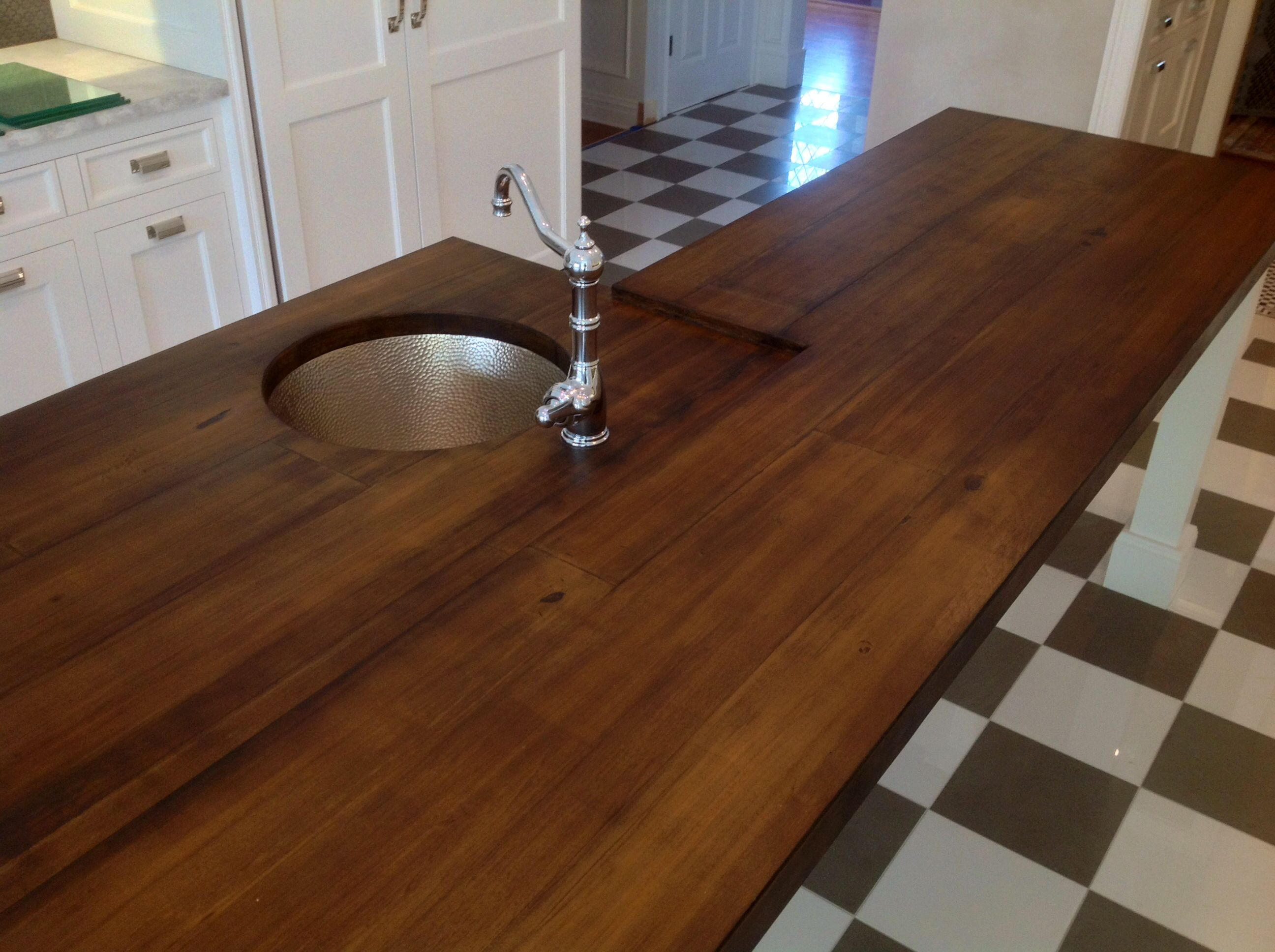 Another View Of The Concrete Countertop My Husband Made To Look Like Wood