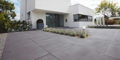 voortuin ideeën met oprit beton   tuin   Garden ...