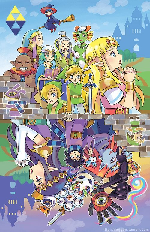 11 X17 Poster Of Zelda A Link Between Worlds Printed On Matte