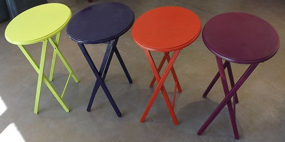 Colors of the Rainbow side tables by UniquelyAttainable on Etsy, $25.00