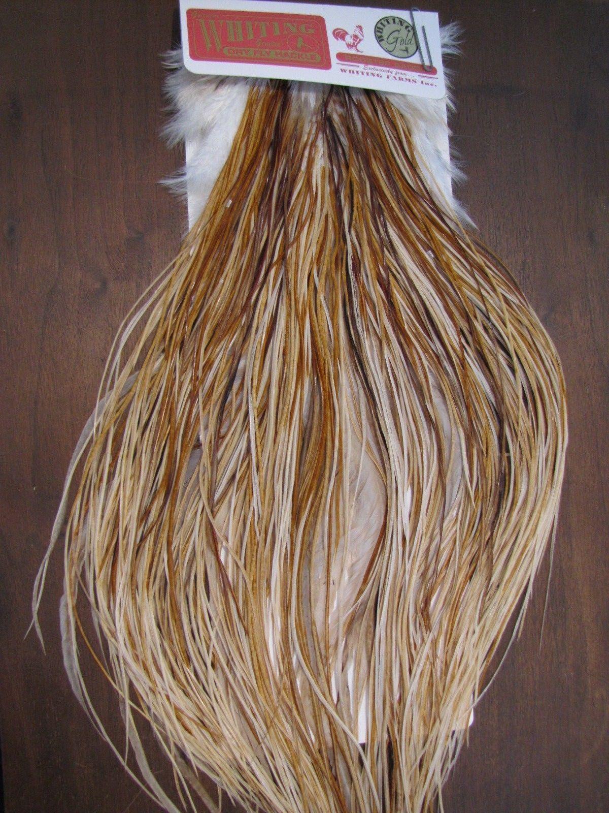 Angelsport-Köder, -Futtermittel & -Fliegen Fly Tying Whiting Gold Rooster Saddle Light Ginger #A