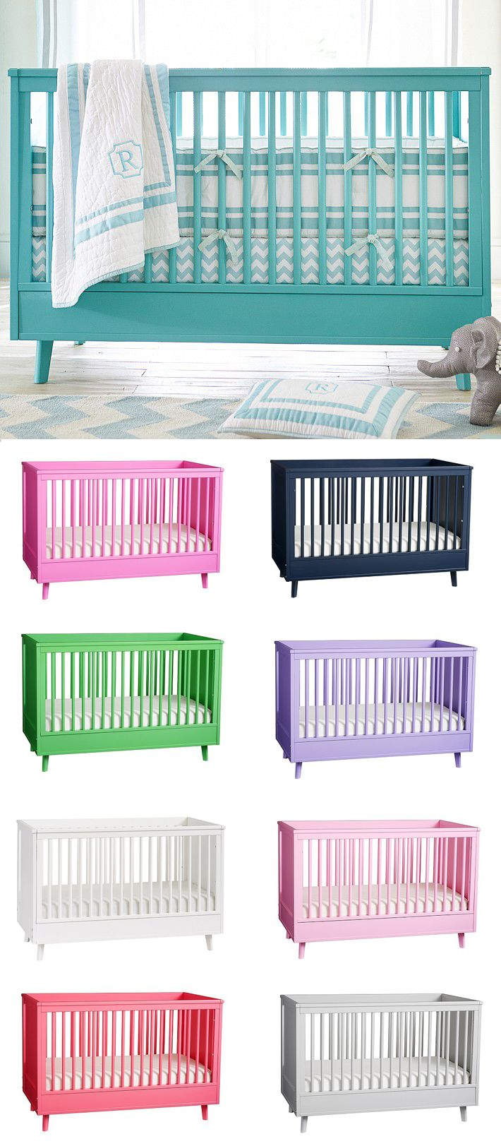 Harper Crib - if oomph made cribs, they\'d come in every color ...