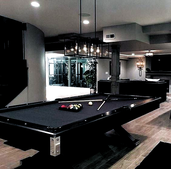 Pin By Sarat69 On Drm Pool Table Room Game Room Lighting Small Game Rooms