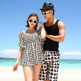 777e7e203f659 Buy 'Moonrise Swimwear – Couple Set: Pattern Bikini Cover-Up / Swim Shorts'  with Free International Shipping at YesStyle.com. Browse and shop for  thousands ...