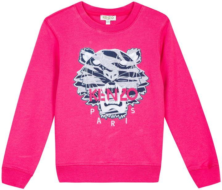 cac22159 Kenzo Embroidered Tiger Logo Sweatshirt   Products in 2019 ...
