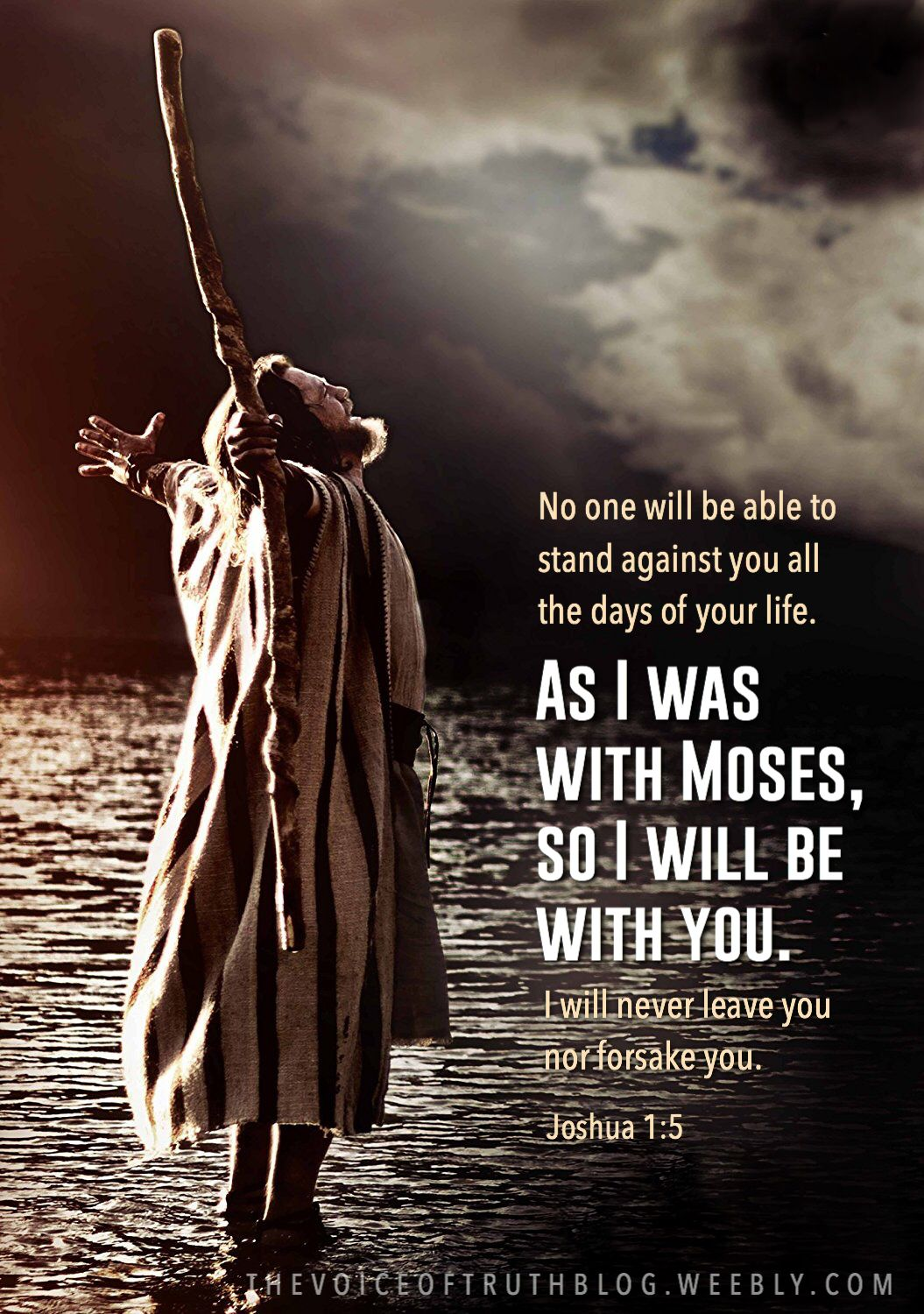 Joshua 1 5 No One Will Be Able To Stand Against You All The Days Of Your Life As I Was With