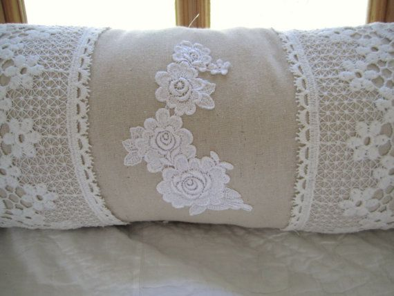 victorian vintage lace  pillow by IrishLane on Etsy