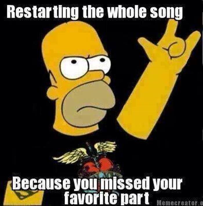 Restart Your Song Music Memes Funny