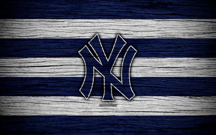 Descargar fondos de pantalla Los Yankees de nueva York, 4k