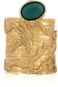 077753c32a5 YVES SAINT LAURENT Arty gold-plated glass cuff | jewels ...