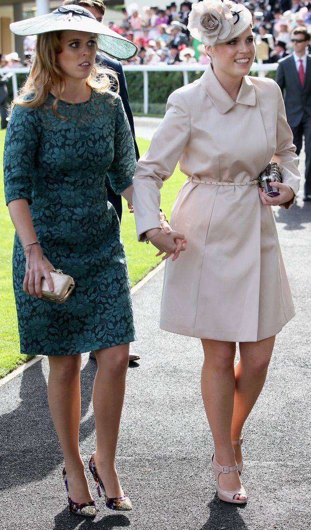 Princess Beatrice of York with her little sister Princess