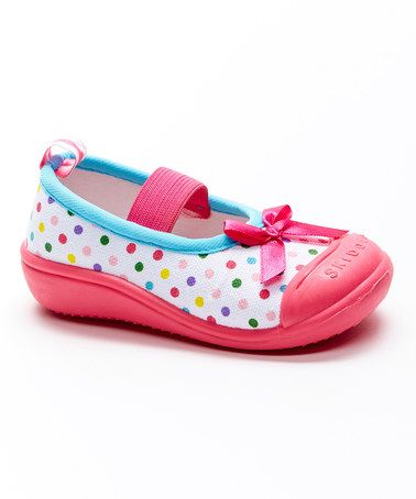 Another great find on #zulily! Pink & Blue Dot Canvas Mary Jane #zulilyfinds