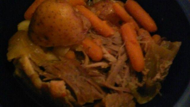 Hey yo its me Jeremiah jerry bernard the one only me my dinner tonite pork roast onion red potatoes carrots sauce how u doing too my family friends followers my haters  love me. Iam praying for u Godbless Jeremiah Bernard