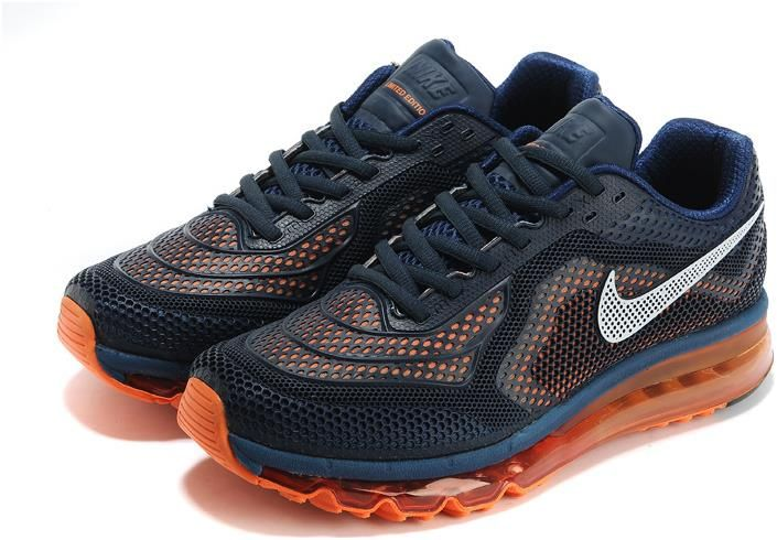 Air Max 2014 Black Blue Orange Men Shoes1 | Mens Air Max