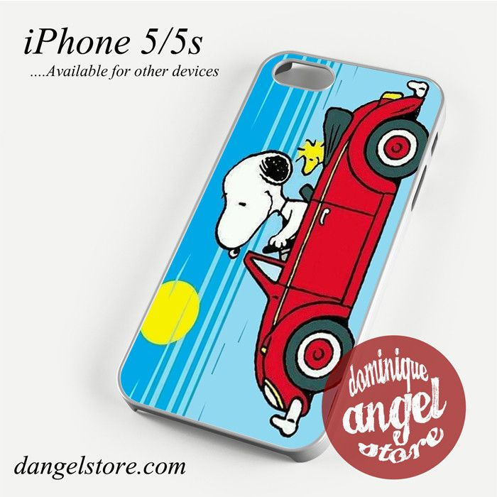 Snoopy in Car Phone case for iPhone 4/4s/5/5c/5s/6/6 plus