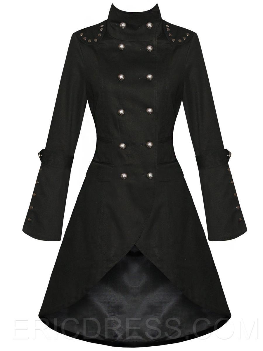 Ericdress Plain Punk Irregular Coat Coats | cotton blends