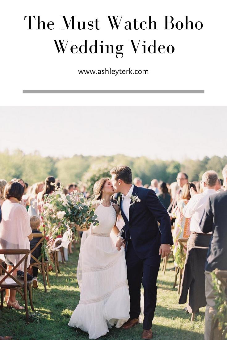 Our Boho Wedding Video Wedding Ashley Hodges Boho Wedding Wedding Video Wedding Videos