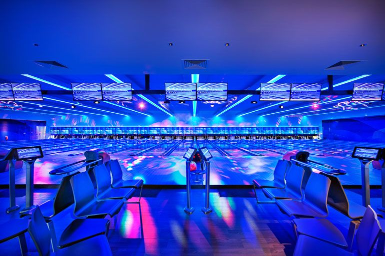 Singapore S Playful New Bowling Center Integrates History And Vision For The Future Bowling Center Bowling Bowling Alley