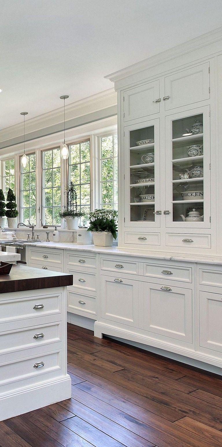 remarkable farmhouse kitchen decor | 65+ Remarkable White Kitchen Design Ideas #kitchen # ...
