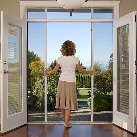 To Replace The Sliding Glass Doors Hmmm With The Option Of The Screen Too French Doors With Screens French Doors Patio Double Patio Doors