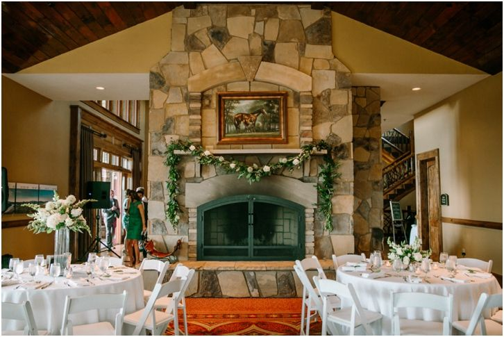 North Georgia Wedding Venue With Fireplace