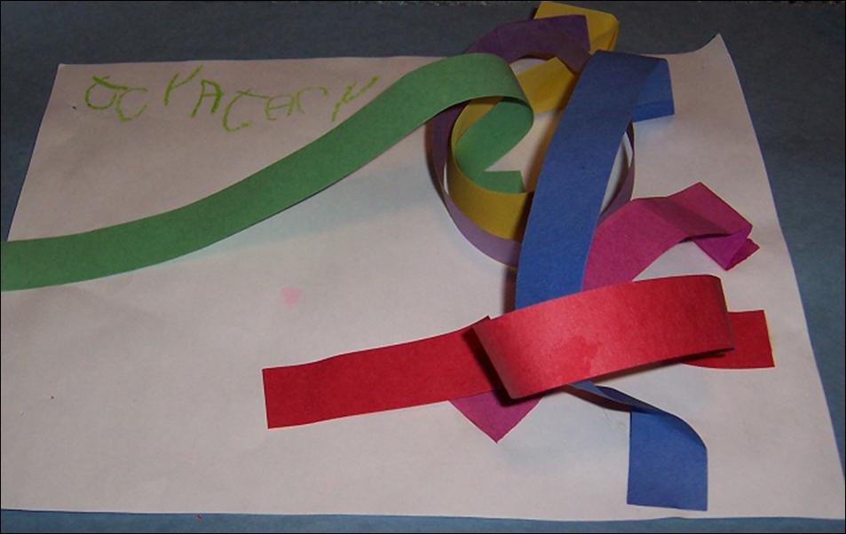Paper strip sculptures