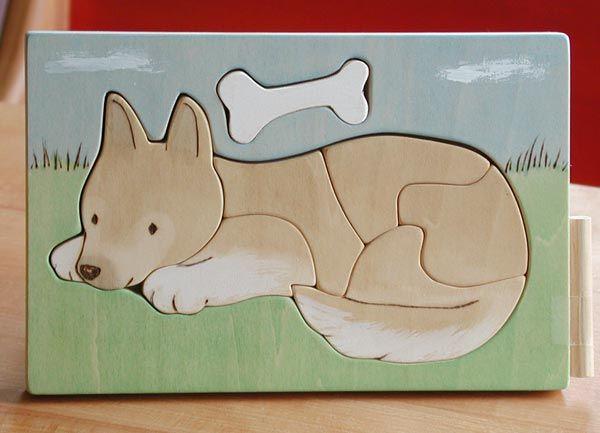 Wooden Puzzle /Dog & Bone