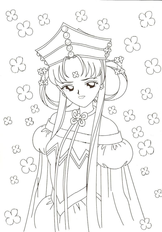 Princess Kakyuu Coloring Page Sailormoon Sailor Moon