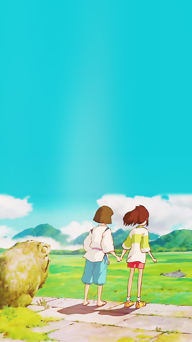 Just Put Your Hand In Mine Spirited Away Iphone 6 Click For Hi Res Studio Ghibli Background Studio Ghibli Art Ghibli Artwork