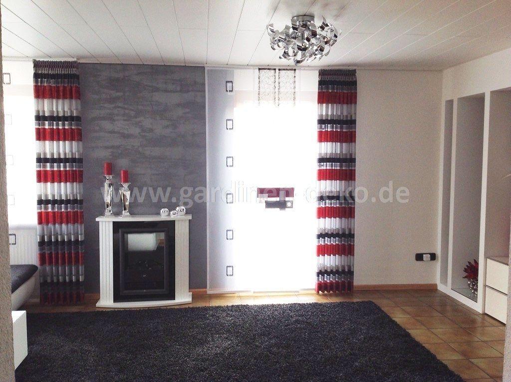 Moderner Schiebevorhang fürs Wohnzimmer mit unseren beliebten - moderne wohnzimmer gardinen