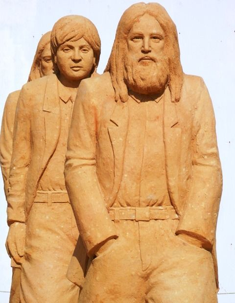 Brighton Sand Sculpture Festival - The Beatles by Benjamin Probanza.