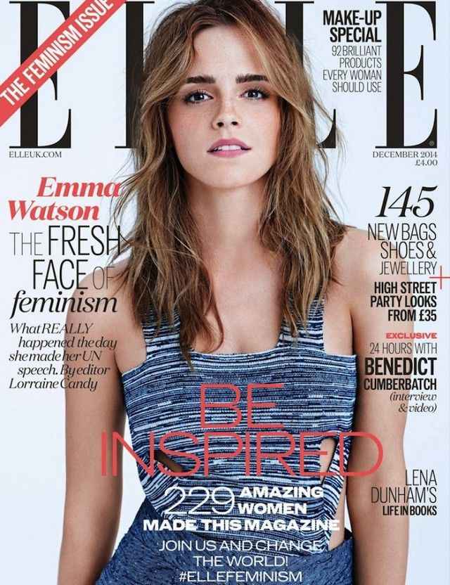 Emma Watson Stars On The Cover Of Elle UK's Feminism Issue via @WhoWhatWear