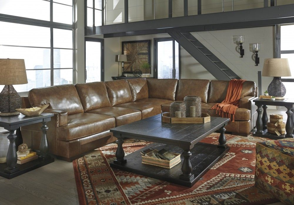 Get Your Vincenzo   Nutmeg 3 Pc. RAF Sofa Sectional At Railway Freight  Furniture, Albany GA Furniture Store.