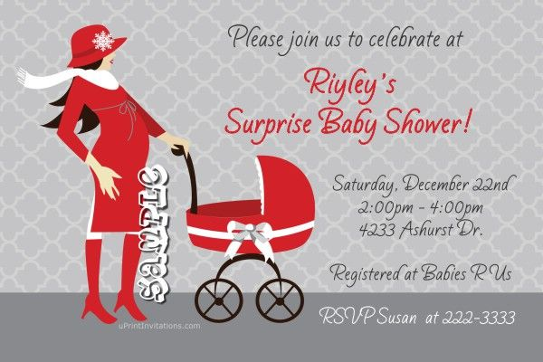 Christmas Holiday Carriage Baby Shower Invitations - Choose Your Hair Color - Get these invitations RIGHT NOW. Design yourself online, download and print IMMEDIATELY! Or choose my printing services. No software download is required. Free to try!